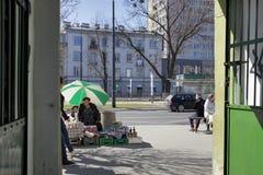 Bazar Rozychkiego jest starym rynkiem w mieście i datuje z powrotem 1901 w okręgu Praga Zdjęcie Royalty Free