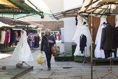 Bazar Rozychkiego jest starym rynkiem w mieście i datuje z powrotem 1901 w okręgu Praga Obrazy Stock