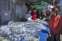 Bazar Rozychkiego jest starym rynkiem w mieście i datuje z powrotem 1901 w okręgu Praga Zdjęcie Stock