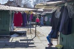 Bazar Rozychkiego jest starym rynkiem w mieście i datuje z powrotem 1901 w okręgu Praga Zdjęcia Stock