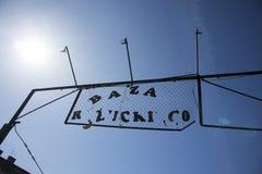 Bazar Rozychkiego jest starym rynkiem w mieście i datuje z powrotem 1901 w okręgu Praga Fotografia Stock