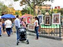 Bazar Sabado in Città del Messico Immagini Stock Libere da Diritti