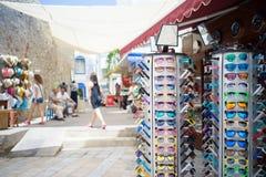 Bazar sob o para-sol Imagem de Stock