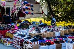 Bazar turco tradizionale nella città di estate Immagini Stock Libere da Diritti