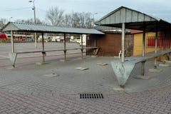 Bazar urbano vazio imagens de stock royalty free
