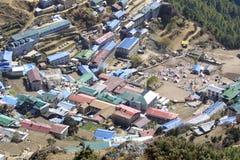 bazarhimalaya namche nepal Fotografering för Bildbyråer