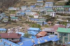bazarnamche nepal Arkivfoto