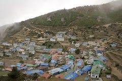 bazarnamche nepal Arkivbilder