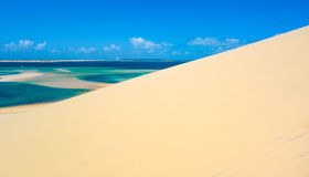 Bazaruto island sand dune. View in Mozambique Royalty Free Stock Photo