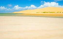 Bazaruto sand dunes in Mozambique Stock Photo
