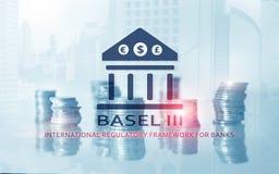 Bazel 3 Internationaal Regelgevingskader voor Banken Financi?le bankwezenregelgeving royalty-vrije illustratie