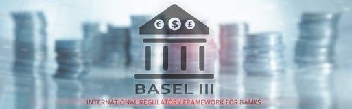 Bazel 3 Internationaal Regelgevingskader voor Banken Financi?le bankwezenregelgeving stock illustratie
