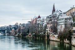 Bazel Riverfront Stock Foto