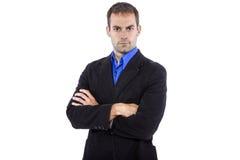 Bazige Manager met Zwart Jasje Stock Foto's