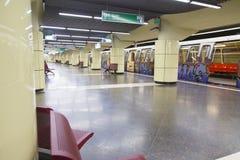 Bazilescu parkerar gångtunnelstationen Royaltyfri Fotografi