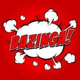 Bazinga!可笑的讲话泡影,动画片 免版税库存图片