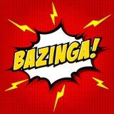 Bazinga! Grappige Toespraakbel, Beeldverhaal stock illustratie