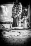 Bazlama και καυτό τσάι Στοκ εικόνα με δικαίωμα ελεύθερης χρήσης