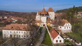 Bazna stärkte kyrkan royaltyfri foto