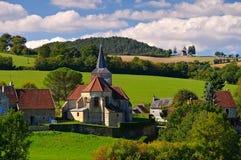 Bazoches, klein dorp in Bourgondië Royalty-vrije Stock Foto