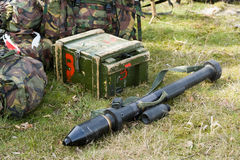 Bazooka on ground Stock Photo