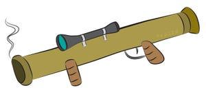 Bazooka wyrzutni rakietowej broń z celować optcis Zdjęcia Stock