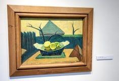 Bazovsky's painting at gallery of Ludovit Fulla, Slovakia royalty free stock image