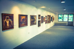 Bazovsky's painting at gallery of Ludovit Fulla, Slovakia royalty free stock photos