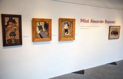 Bazovsky's painting at gallery of Ludovit Fulla, Slovakia stock image