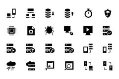 Bazy danych i serweru Barwione Wektorowe ikony 4 Obraz Royalty Free