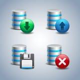 Bazy danych ikona ustawiająca - 2 Fotografia Stock