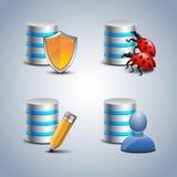 Bazy danych ikona ustawiająca - 4 Zdjęcia Royalty Free