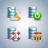 Bazy danych ikona ustawiająca - 6 Fotografia Stock