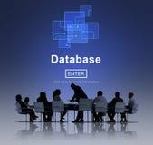 Bazy danych sieci technologia Wchodzić do pojęcie Fotografia Stock