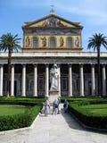 Bazylika Świątobliwy Paul Na zewnątrz Ścienny Rzym Włochy Obraz Stock