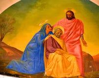 Bazylika świętego Joseph groty Kościelny malowidło ścienne Fotografia Stock