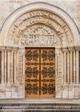 Bazylika święty Denis: Architektoniczni szczegóły Paris france obraz stock
