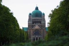 Bazylika Święty serce w Bruksela zdjęcia royalty free