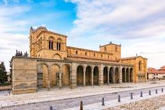Bazylika święty Vincent jest romańszczyzny kościół lokalizować w Avila, Hiszpania c, wielkim i znacząco zdjęcie stock