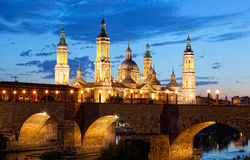 Bazylika Del Pilar w Zaragoza Zdjęcie Stock