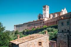 Bazylika Di San Francesco w Assisi, Włochy Zdjęcia Stock