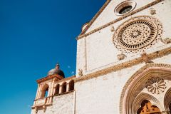 Bazylika Di San Francesco w Assisi, Włochy Fotografia Stock