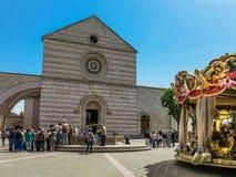 Bazylika Di Santa Chiara w Assisi, Włochy obrazy royalty free