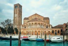 Bazylika Di Santa Maria e Donato na Murano wyspie, Wenecka laguna w Włochy Zdjęcia Stock