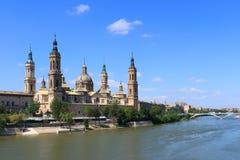bazylika el bazylika Spain Zaragoza Zdjęcia Royalty Free