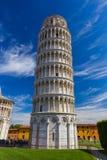 Bazylika i oparty wierza w Pisa Włochy fotografia stock
