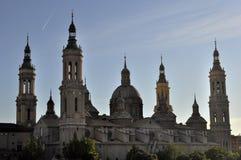 Bazylika Katedralny Nuestra señora Del Pilar, Saragossa, Hiszpania fotografia stock