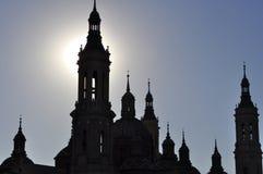 Bazylika Katedralny Saragossa Nuestra señora Del Pilar, Aragon, Hiszpania zdjęcie royalty free