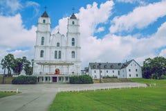 Bazylika, kościół przy Latvia Miasto Aglona Zdjęcia Stock