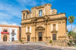 Bazylika Madonna Del Soccorso w Sciacca, prowincja Agrigento, Sicily, Włochy zdjęcia royalty free